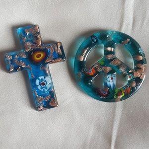 Jewelry - Glass pendant set